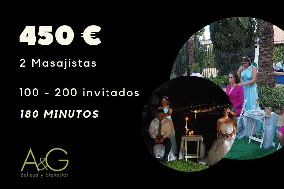 Masaje Expres para Bodas Pack Cupido 450 €